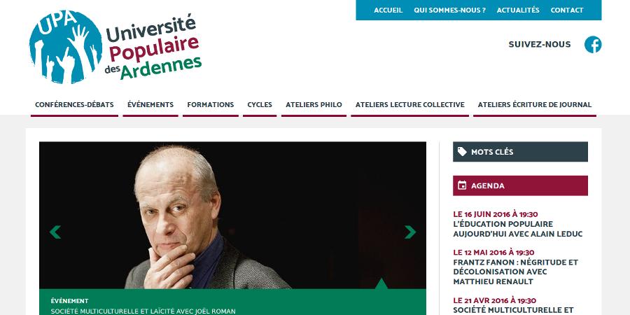 Référence Université Populaire des Ardennes