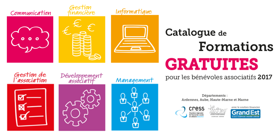 Catalogue formations gratuites CRESS Grand Est 2017